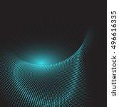 abstract techno design... | Shutterstock .eps vector #496616335