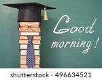 good morning  funny education... | Shutterstock . vector #496634521