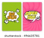 set of sale vector designs with ... | Shutterstock .eps vector #496635781