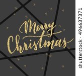 vector hand written greeting... | Shutterstock .eps vector #496637371