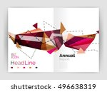unusual abstract corporate...   Shutterstock .eps vector #496638319