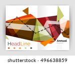 unusual abstract corporate... | Shutterstock .eps vector #496638859