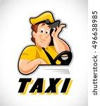 vector flat taxi driver in...   Shutterstock .eps vector #496638985