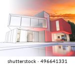 3d rendering of a luxurious... | Shutterstock . vector #496641331