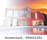 3d rendering of a luxurious... | Shutterstock . vector #496641331