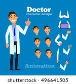 smart doctor presenting in... | Shutterstock .eps vector #496641505