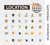 location icons  | Shutterstock .eps vector #496641691