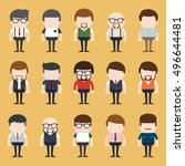 set of diverse business people. ...   Shutterstock .eps vector #496644481