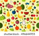 vector flat seamless texture... | Shutterstock .eps vector #496644955