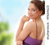 attractive dancer girl in... | Shutterstock . vector #49664623