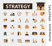 strategy icons | Shutterstock .eps vector #496647691