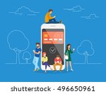 e wallet concept illustration... | Shutterstock .eps vector #496650961