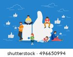 i like it concept illustration... | Shutterstock .eps vector #496650994