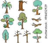 doodle of tree vector art... | Shutterstock .eps vector #496652929