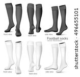 football socks. fully editable... | Shutterstock .eps vector #496655101