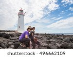 the couple on griffiths island... | Shutterstock . vector #496662109