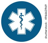 medical symbol of the emergency ... | Shutterstock . vector #496663969