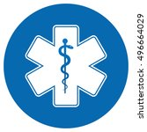 medical symbol of the emergency ... | Shutterstock . vector #496664029