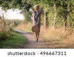 1920s retro fashion woman... | Shutterstock . vector #496667311