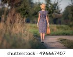 rear view of vintage 1920s... | Shutterstock . vector #496667407