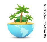 nature landscape of tropical... | Shutterstock .eps vector #496668325