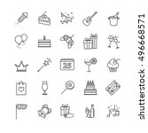 outline web icons   party ... | Shutterstock .eps vector #496668571