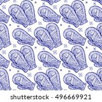 seamless texture with the... | Shutterstock .eps vector #496669921