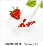 vector illustration. red ripe ... | Shutterstock .eps vector #49667047