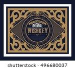 vintage logo template  business ... | Shutterstock .eps vector #496680037