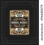 old whiskey label | Shutterstock .eps vector #496680079