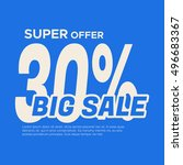 big sale banner. sale and... | Shutterstock .eps vector #496683367