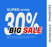 big sale banner. sale and... | Shutterstock .eps vector #496683394