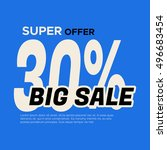 big sale banner. sale and... | Shutterstock .eps vector #496683454