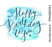 happy birthday to you  vector... | Shutterstock .eps vector #496686061