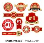 vector labels   bestseller   Shutterstock .eps vector #49668649