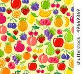 fruit background | Shutterstock .eps vector #49669369