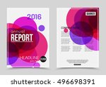 annual report booklet for... | Shutterstock .eps vector #496698391