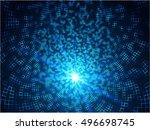 abstract digital tunnel.... | Shutterstock .eps vector #496698745