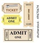 vector tickets set | Shutterstock .eps vector #49670674