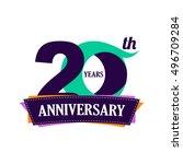 20 years anniversary... | Shutterstock .eps vector #496709284