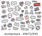 patch fashion collection. ... | Shutterstock .eps vector #496712935