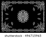 bandana print with abstract... | Shutterstock .eps vector #496715965