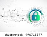 protection concept. protect... | Shutterstock .eps vector #496718977