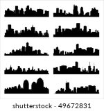 detailed vector silhouettes of... | Shutterstock .eps vector #49672831