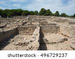 Greco-Roman archaeological site of Ampurias (Empuries) in the Gulf of Roses, Catalonia, Spain.
