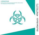 web line icon. radiation hazard ... | Shutterstock .eps vector #496731271