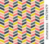 retro zigzag seamless pattern.... | Shutterstock .eps vector #496739479