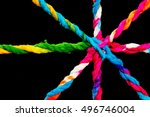 connected group concept as many ... | Shutterstock . vector #496746004