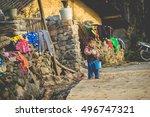 hagiang  vietnam  february 27 ... | Shutterstock . vector #496747321