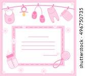 illustration of baby girl... | Shutterstock . vector #496750735